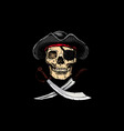 jolly roger pirates treated flags vector image vector image
