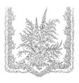 lace scarf is ornamented vintage engraving vector image vector image