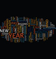 let go of the past and look to the new year text vector image vector image