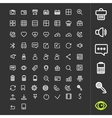 Line icons for applications and websites vector image vector image