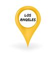 Location Los Angeles vector image