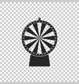 lucky wheel icon on transparent background vector image