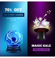 Magic Banners Vertical vector image vector image