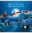 Merry Christmas and Happy New Year card Santa vector image