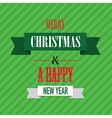 merry christmas green vector image vector image