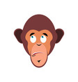 monkey surprised emoji marmoset astonished vector image vector image
