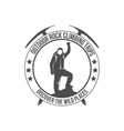 mountain climbing vintage logos vector image vector image