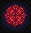 neon snowflake isolated on transparent background vector image