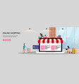 online shopping or online store concept landing vector image vector image