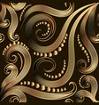 ornate gold vintage 3d seamless pattern vector image vector image