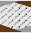 pattern coffee background vector image vector image