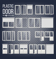 plastic door plastic door frame energy vector image vector image