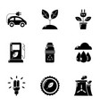 pure potency icons set simple style vector image vector image
