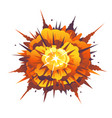 radial bomb explosion vector image vector image