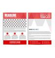 red brochure design flyer template vector image vector image