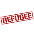 refugee stamp vector image vector image