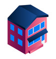 residential house icon isometric style vector image vector image