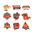 sale and price discount tags for shopping vector image vector image