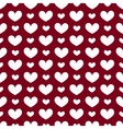 Seamless geometric pattern with hearts vector image vector image