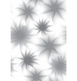 seamless texture with gray flowers on white vector image