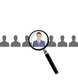 Search choose for employment vector image