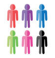set colorful flat people icons vector image