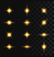 set flashes star burst and sparkles on vector image vector image