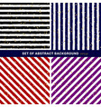 set of abstract black blue red purple white vector image vector image