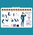 set of businessman character vector image