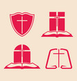 set of logos for the church vector image vector image