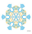 simple snowflake icon isolated on white background vector image vector image