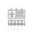 simple thin line airport lounge icon vector image
