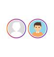 social avatar insta story user logo vector image