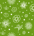 Spring green background with flowers vector image vector image
