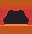 theater stage with red curtains vector image