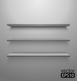 three shelves on wall vector image