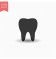 tooth icon simple flat style vector image