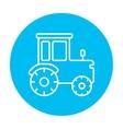 Tractor line icon vector image