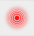 transparent concentric circle elements like pain vector image