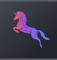 unicorn logo icon design vector image vector image