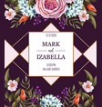 wedding invitation with english roses vector image vector image