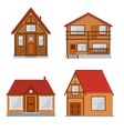 Wooden Country House or Home Set vector image vector image