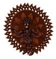 wooden figurine with indian hindu goddess kali vector image