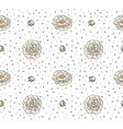 Seamless pattern with flowers Floral background vector image
