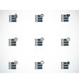 black database icons set vector image