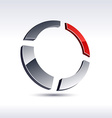 Abstract 3d ring icon vector image vector image