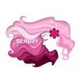 beauty and hair salon in vector image vector image