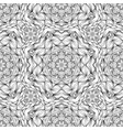 black and white pattern with ornament in mandala vector image