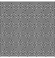Black and white waveform seamless pattern