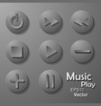 black music icons set on gray vector image vector image